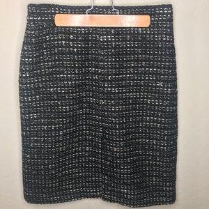 J. Crew Black Tweed Skirt Size 6
